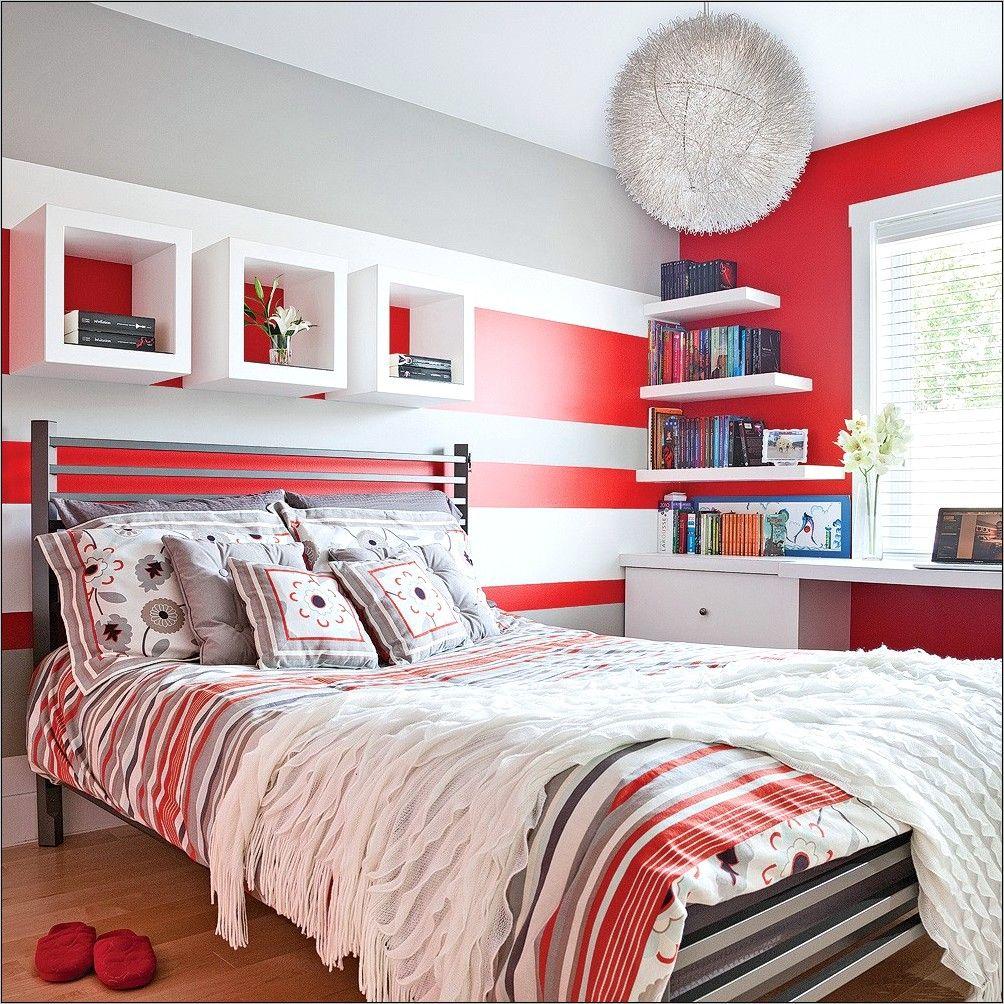 Deco Chambre Ado Rouge Noir Gris en 18  Rouge chambre, Chambre
