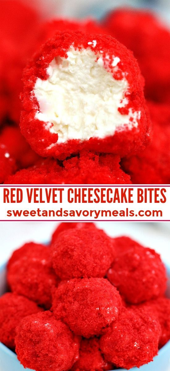 Red Velvet Cheesecake Bites #redvelvetcheesecake