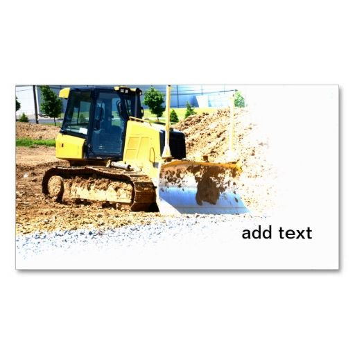 heavy duty construction equipment business cards. This great business card design is available for customization. All text style, colors, sizes can be modified to fit your needs. Just click the image to learn more!