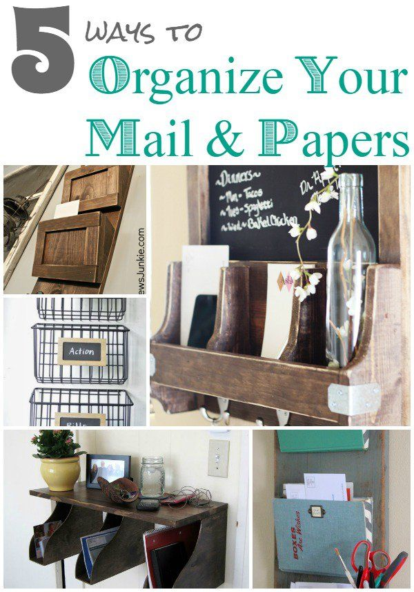 Diy Home Ideas Check Out These Five Ways To Organize Your Mail And Papers Efficiently Stylishly