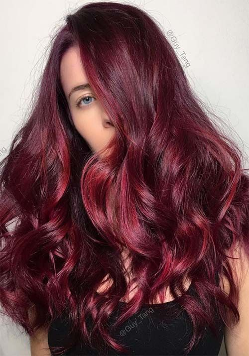 Amazing Dark Brown Hair Color Chart 12 Black Hair Color: 100 Badass Red Hair Colors: Auburn, Cherry, Copper