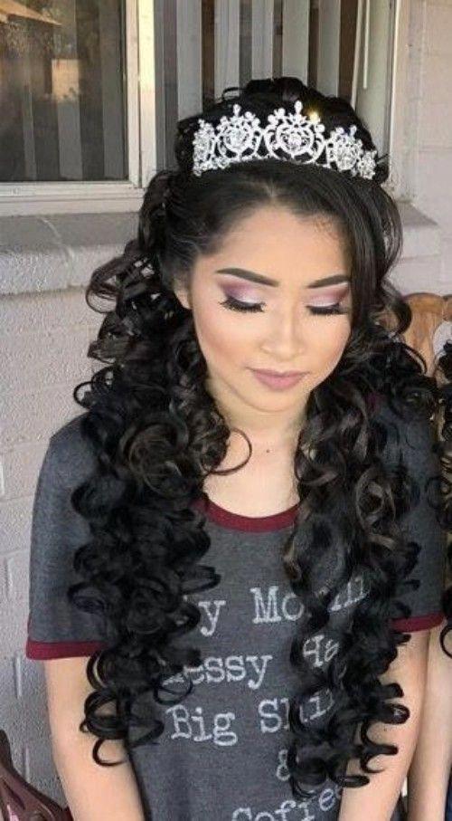 Quinceanera Hairstyles For Long Hair Longhair Quince Hairstyles Hair Styles Long Hair Styles