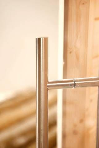 Design Sauna Türgriff U2013 Außen Edelstahl, Innen Strapazierfähiges Hartholz