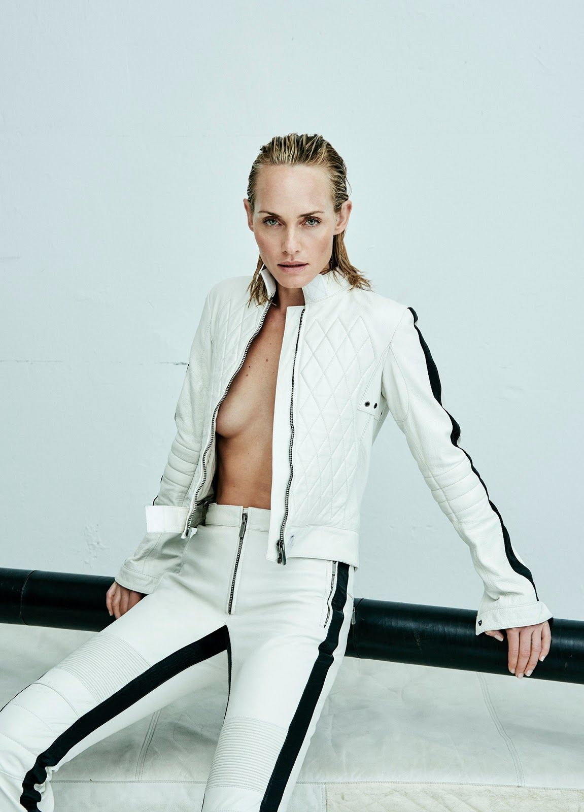 c7947b34996 EDITORIAL+COVER  Amber Valletta in Vogue Ukraine April 2017 by Chris Colls  — White Issue — Photography  Mario Testino