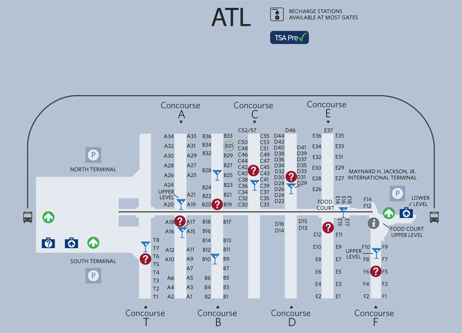 atlanta airport south terminal map Atlanta Airport Map So In Need Of This Airport Map Atlanta atlanta airport south terminal map