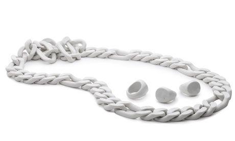 """Porcelain Jewellery""-Kollektion von Kilian Schindler"