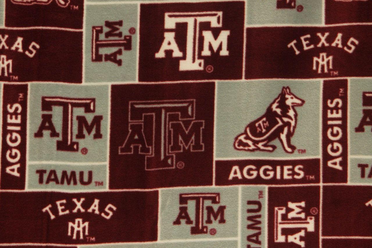 Ncaa texas aum university aggies fleece fabric by the yard