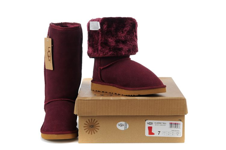 UGG Women Classic Tall Boots 5815 Wine Red