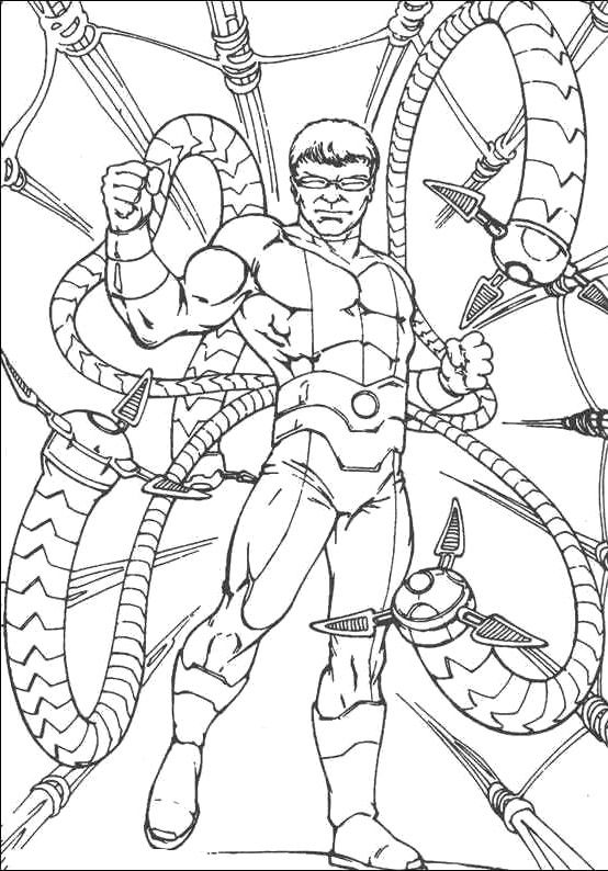 Spiderman The Enemy Doctor Octopus Coloring Pages - Spiderman ...