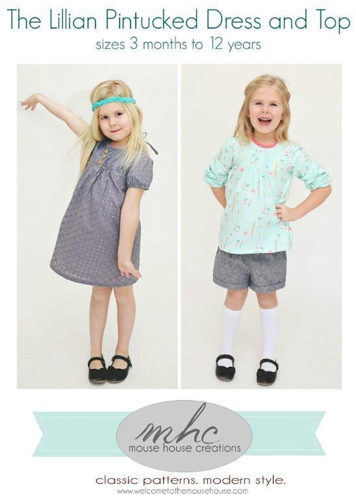 Lillian Pintucked Dress and Top | Baby/children\'s sewing clothes ...