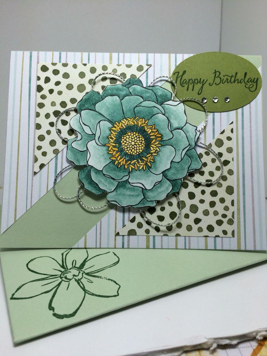 Stampin Up Blended Bloom