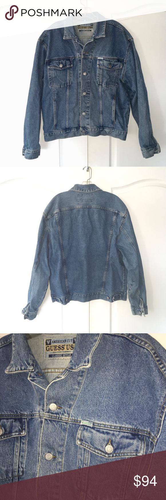 Vintage guess s acid wash denim jacket coat xl vintage denim and