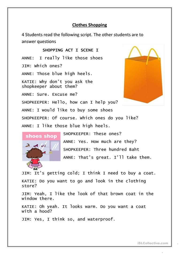 Clothes Shopping English Esl Worksheets For Distance Learning And Physical Classrooms In 2021 English Conversation For Kids Shopping Outfit English For Beginners [ 1079 x 763 Pixel ]