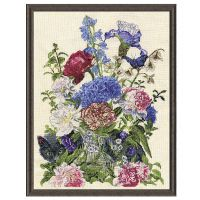 Bouquet with Cat Counted Cross Stitch Kit