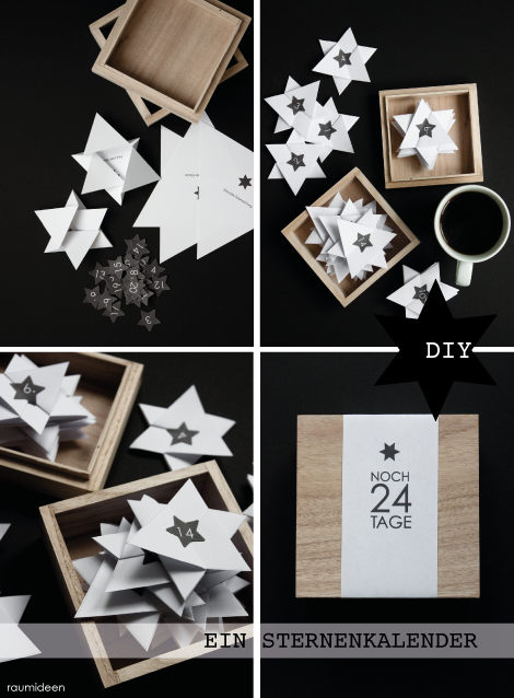 diy adventskalender basteln mit anleitung diy. Black Bedroom Furniture Sets. Home Design Ideas