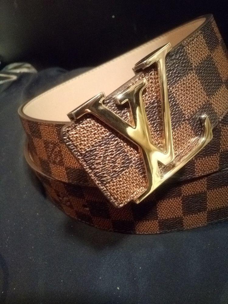 Louis Vuitton Belt Damier Canvas Lv Brown 40mm Size 50 125 Fashion Clothing Shoes Accessories Mensaccess Louis Vuitton Belt Mens Accessories Rings For Men