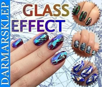 Efekt Szkla Lustra Glass Nails Folia Duza 025 Class Ring Glass