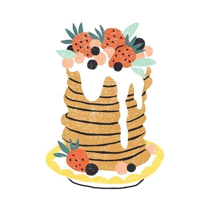 food illustrations  Drawings  #food #illustrations #drawings  digital illustrati…