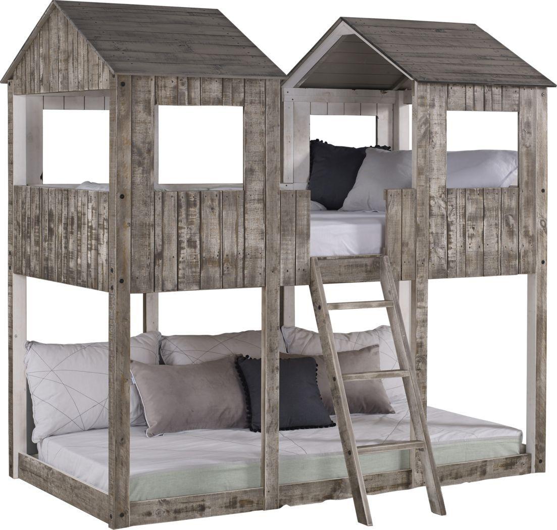 Timber Hideaway Beige Twin Twin Bunk Bed In 2020 Twin Bunk Beds Bunk Bed Designs Loft Bunk Beds