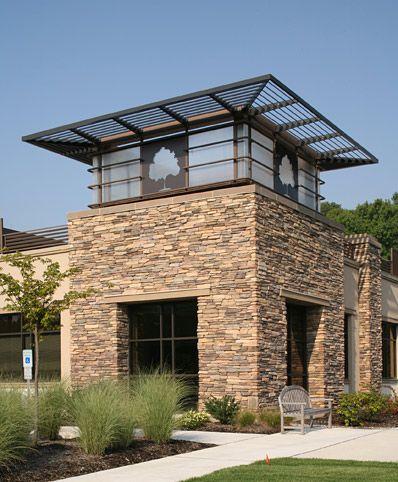 Eldorado stone sawtooth rustic ledge dental office for Dental office exterior design
