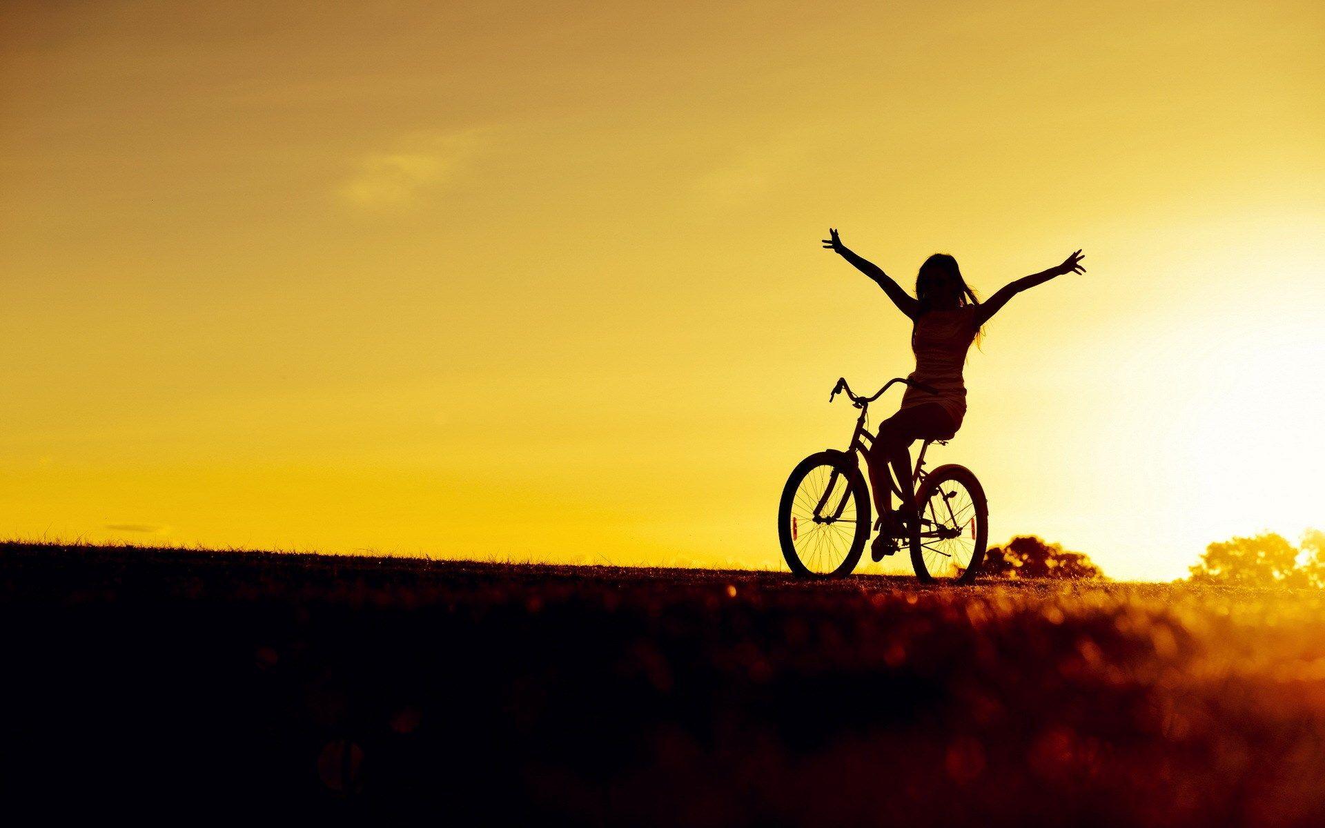 bicycle girl photo hd