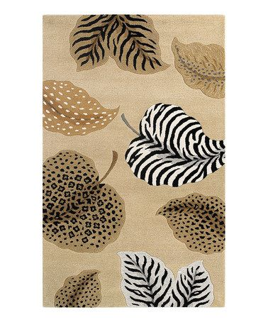 Take a look at this Beige Jungle Air Sahara Wool Rug by KAS Rugs on #zulily today! $140 !!