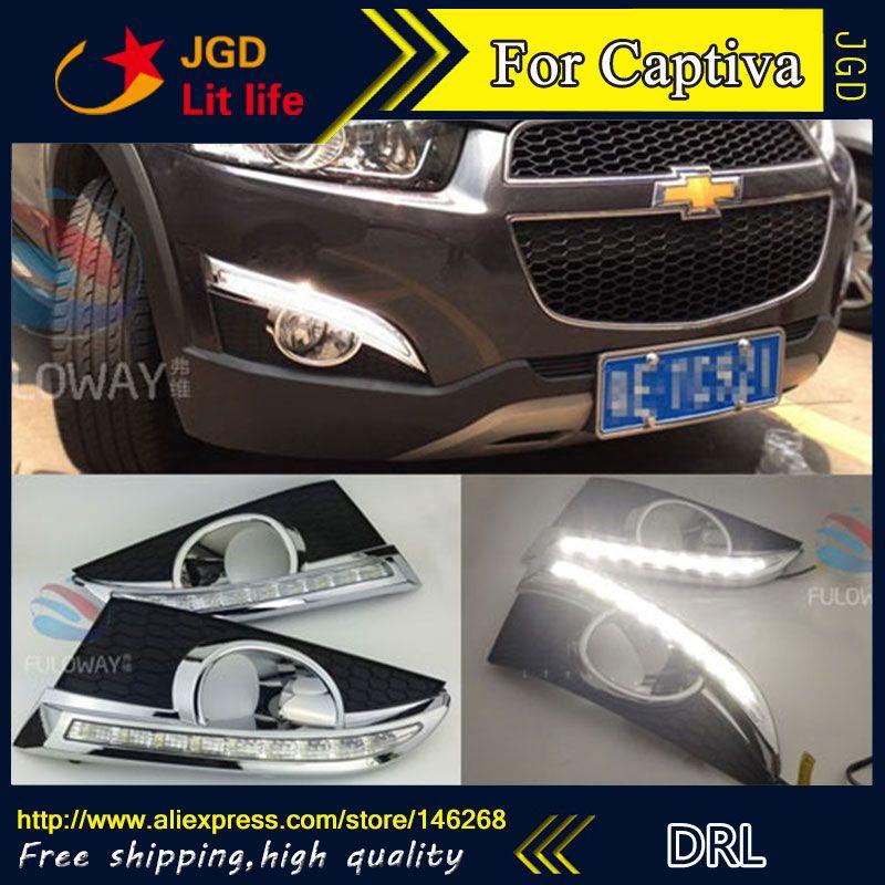 Free Shipping 12v 6000k Led Drl Daytime Running Light For Chevrolet Captiva 2011 2013 Fog Lamp Frame Fog Light Chevrolet Captiva Running Lights Chevrolet