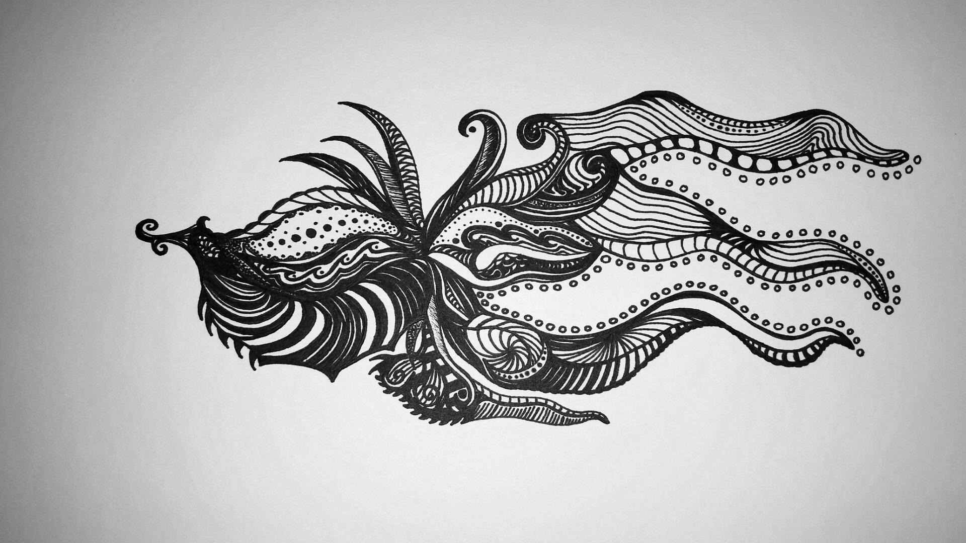 Octopus Lookin Thing sharpie 7x10 http://ift.tt/2DTQ6IZ