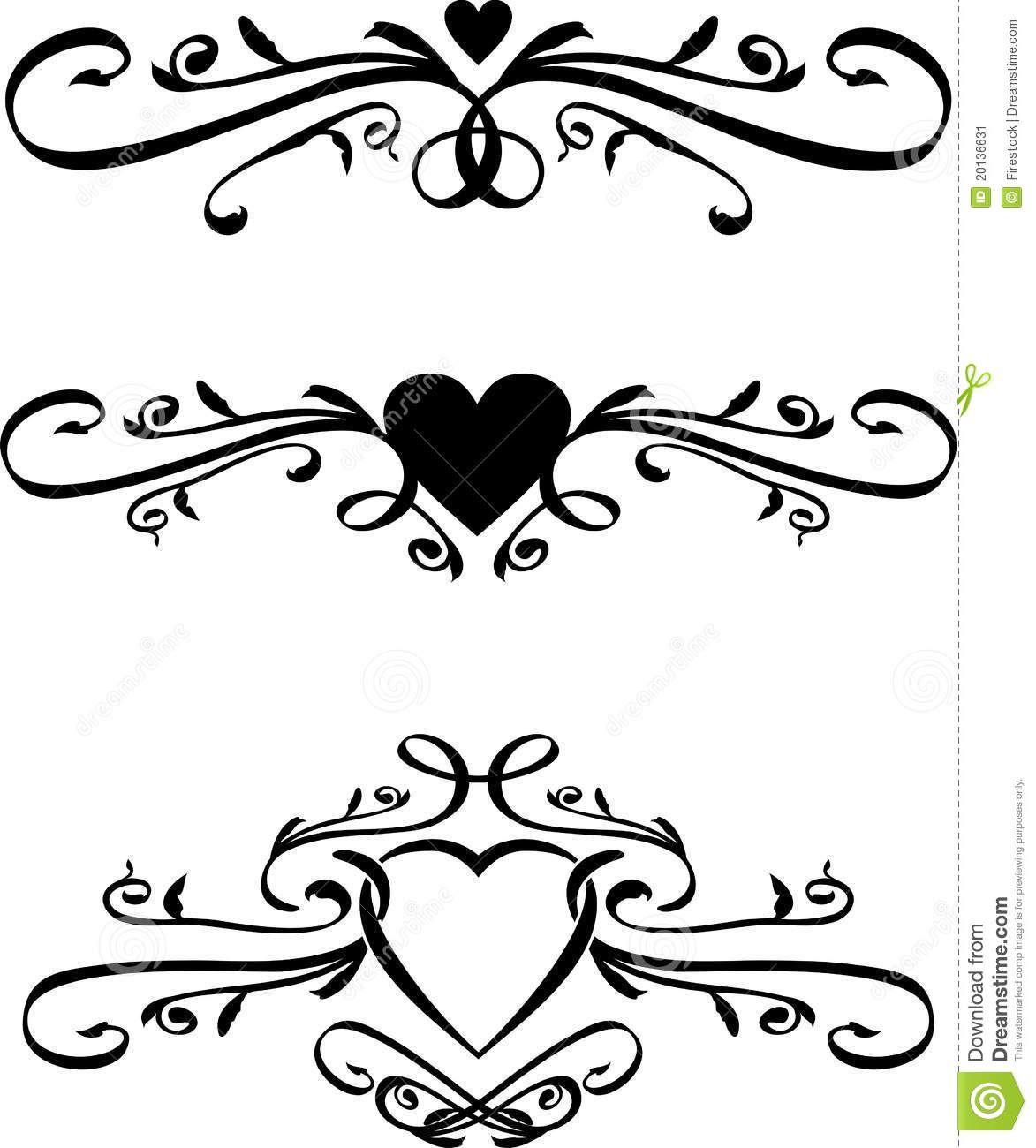 Set Vector Heart Scrolls 1 173 1 300 Pixels