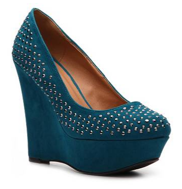 Qupid Worthy-38 Wedge Pump (Teal)