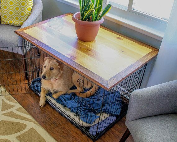dog crate topper end table living room furniture home decor dog