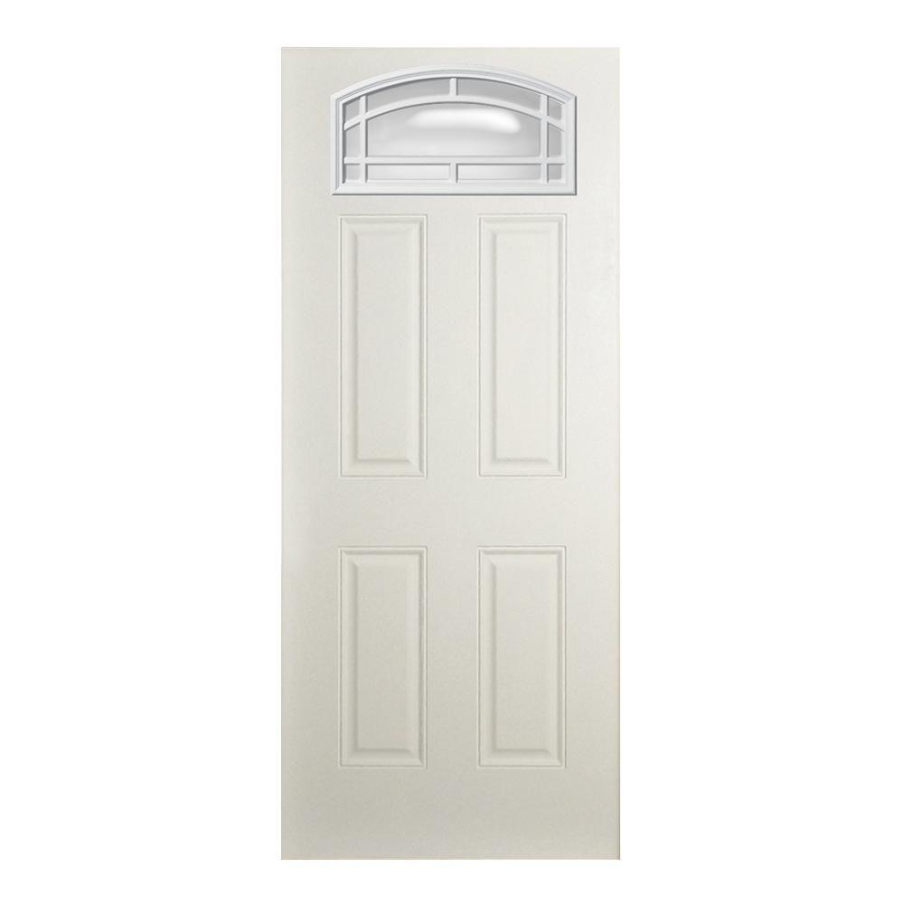 Steves Sons 35 3 4 In X 79 In 11 Lite Cambertop White Primed Fiberglass Clear Front Door Slab In 2020 Front Door Fiberglass Front Door The Home Depot