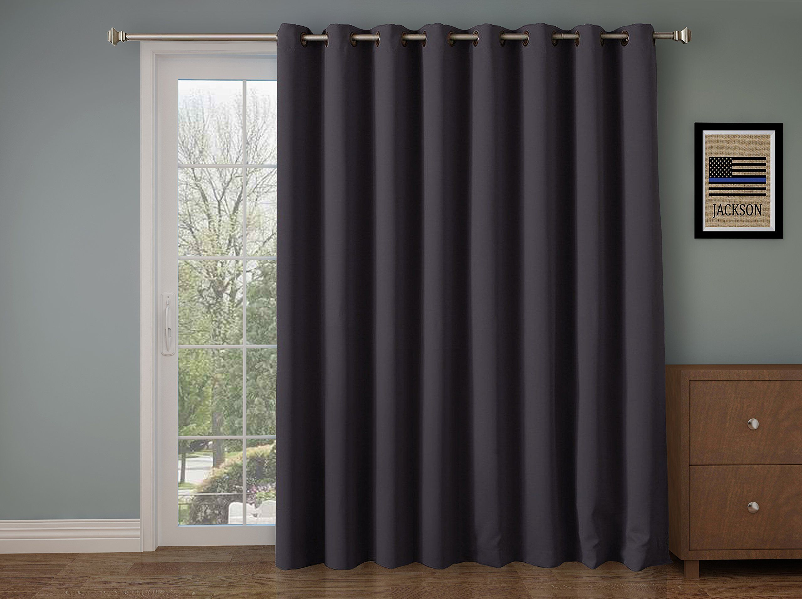 Rhf Wide Thermal Blackout Patio Door Curtain Panel Sliding Insulated Curtains Extra