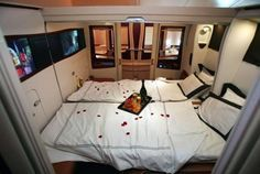 Another interior shot of an Airbus A380; this one of a deluxe suite ...