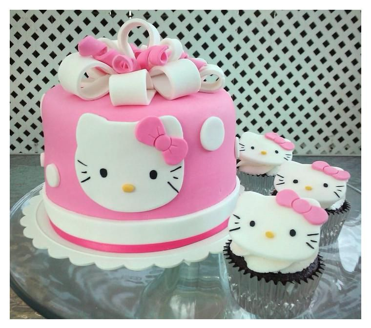 Bits N Bytes Hello Kitty Cake And Cupcakes cakepinscom Hello