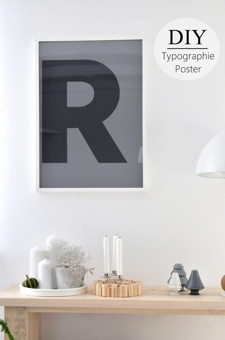 Deko Trend Buchstaben Diy Typo Poster Diy