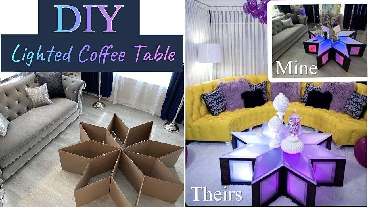 Unbelievable Cardboard Coffee Table Diy Living Room Decor Youtube Diy Living Room Decor Cardboard Crafts Decoration Living Room Diy