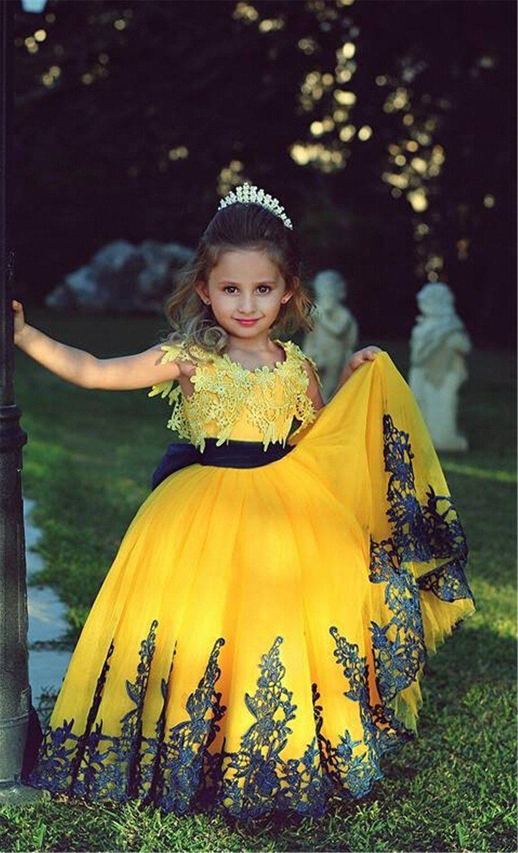 Flower girl dressesyellow flower girl dressflower girl tutu ball