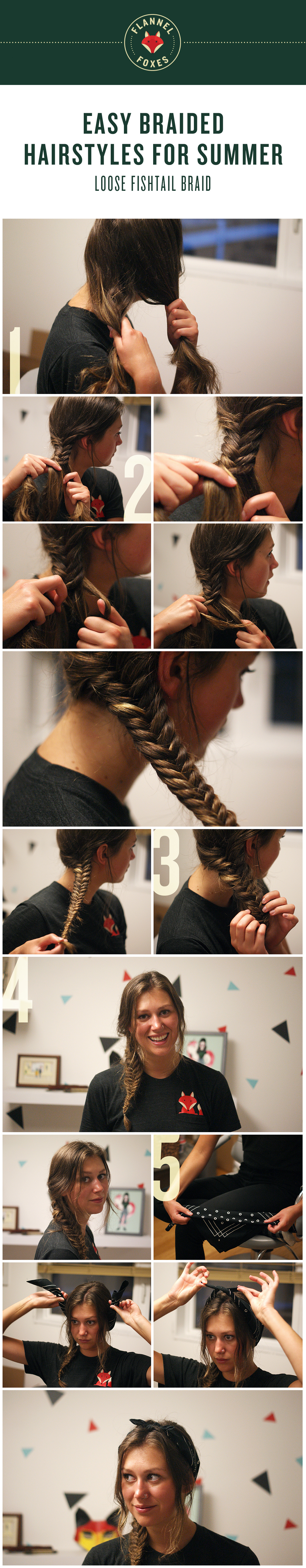 Loose Fishtail Braid | Flannel Foxes Tomboy Blog