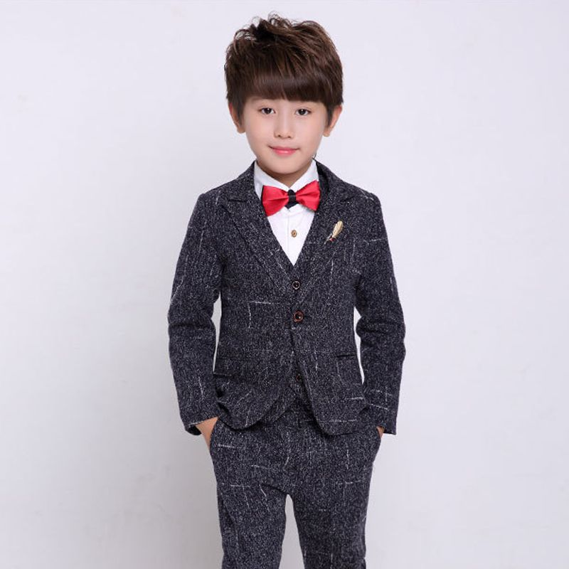 368557d09 Charcoal Wedding Tuxedo for Boys Wedding Dress Kids Blazer Suit 3 Piece  Formal Suit Boys Clothes-in Suits from Mother & Kids on Aliexpress.com |  Alibaba ...