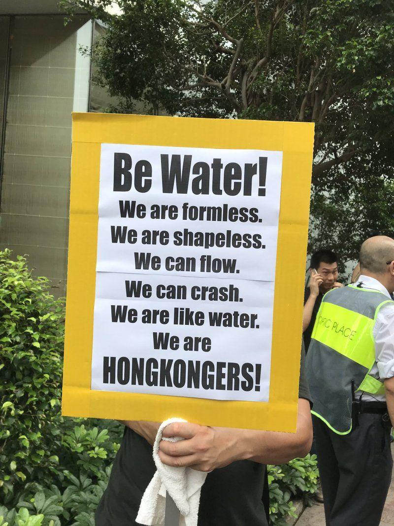Be Water Seven Tactics That Are Winning Hong Kong S Democracy Revolution Protest Posters Hong Kong Revolution