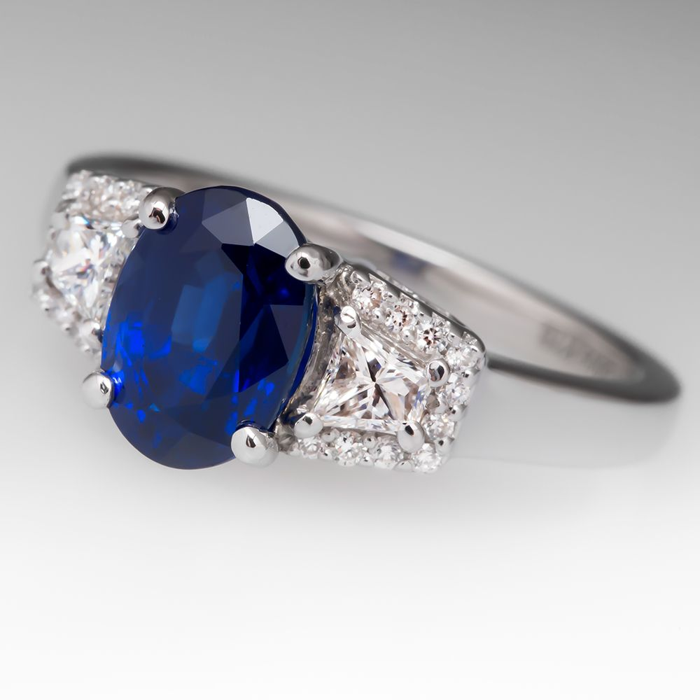 Natalie+K+2.4+Carat+Dark+Blue+Sapphire+Ring+18K