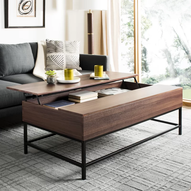 Spacious Lift-top Coffee Table Living Room Cabinet  Functional  Long-lasting