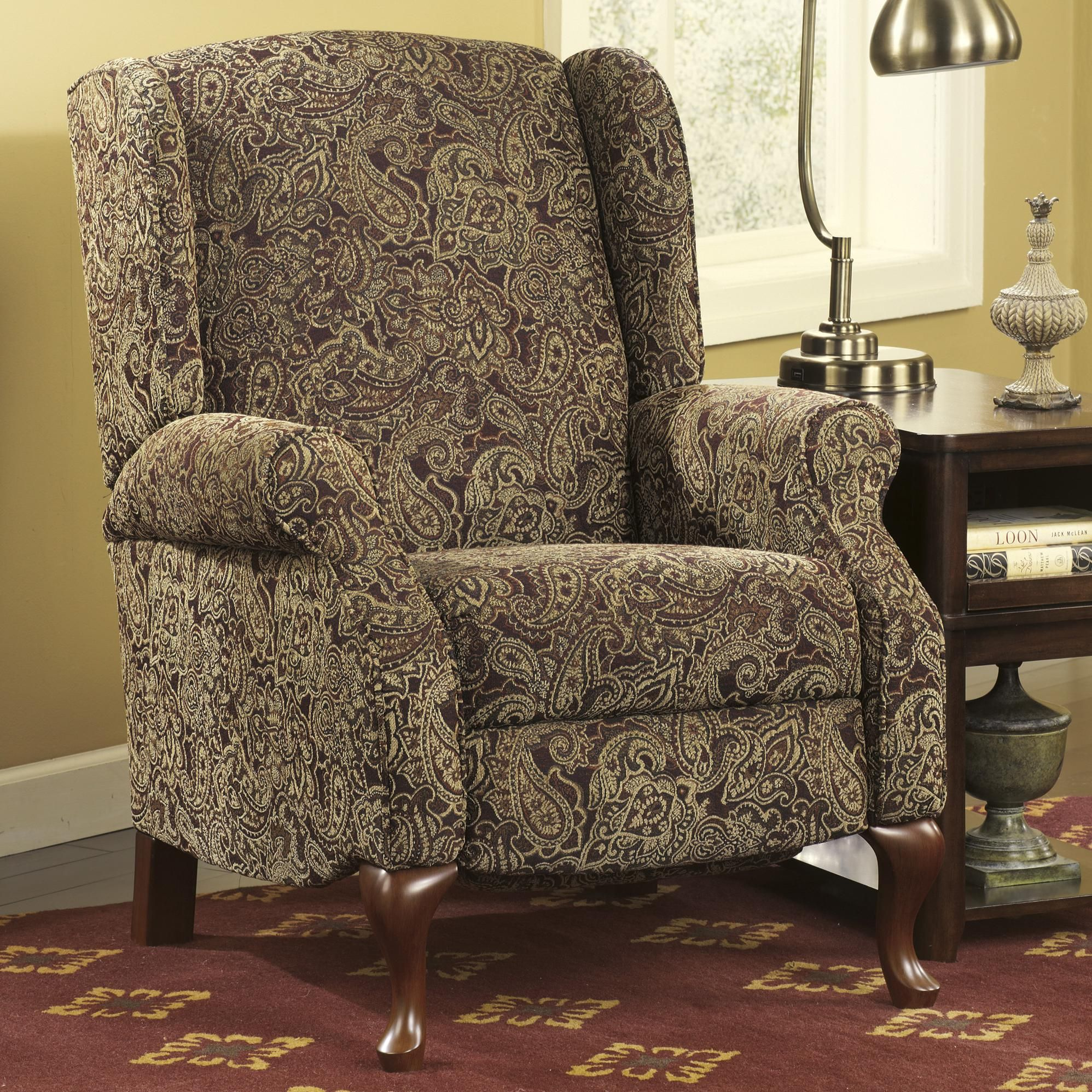 Chair and a half recliner ashley furniture - Walworth Patterned Accent Chair With Arms By Ashley Furniture At Kensington Furniture