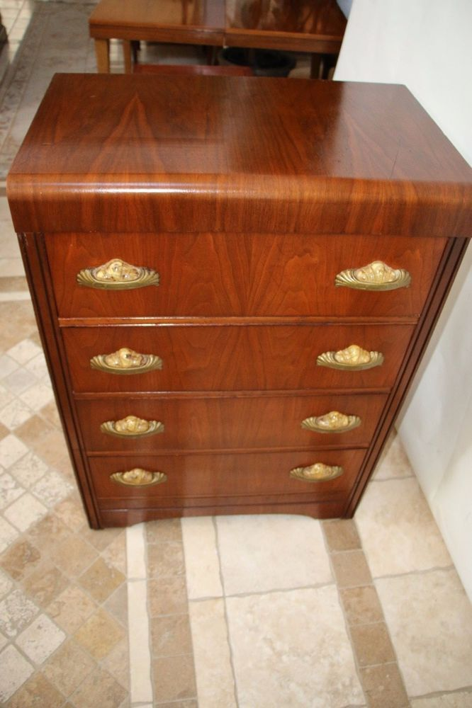 Vintage Art Deco Quot Waterfall Quot Dresser Bakelite Sea Shell