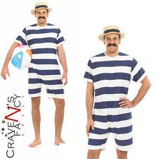 f963a5e979 Mens Old Time Bathing Suit 1920s Victorian Beach Swimsuit Fancy Dress  Costume