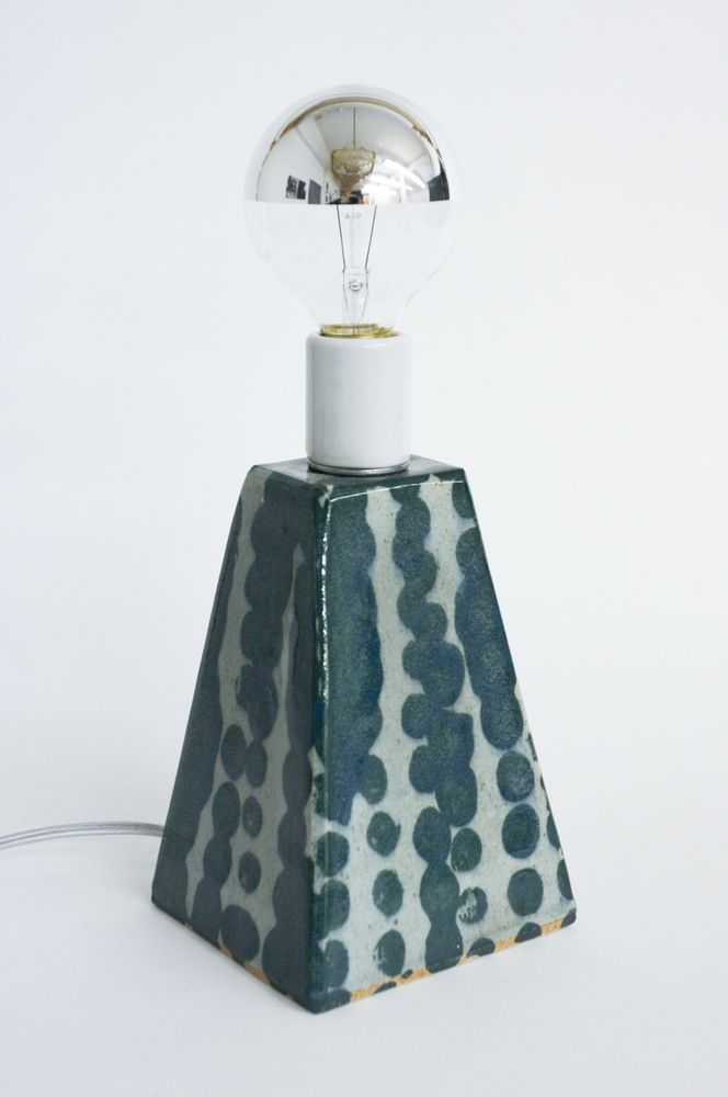Image of Final Sale: Teal Dot Lamp, Small