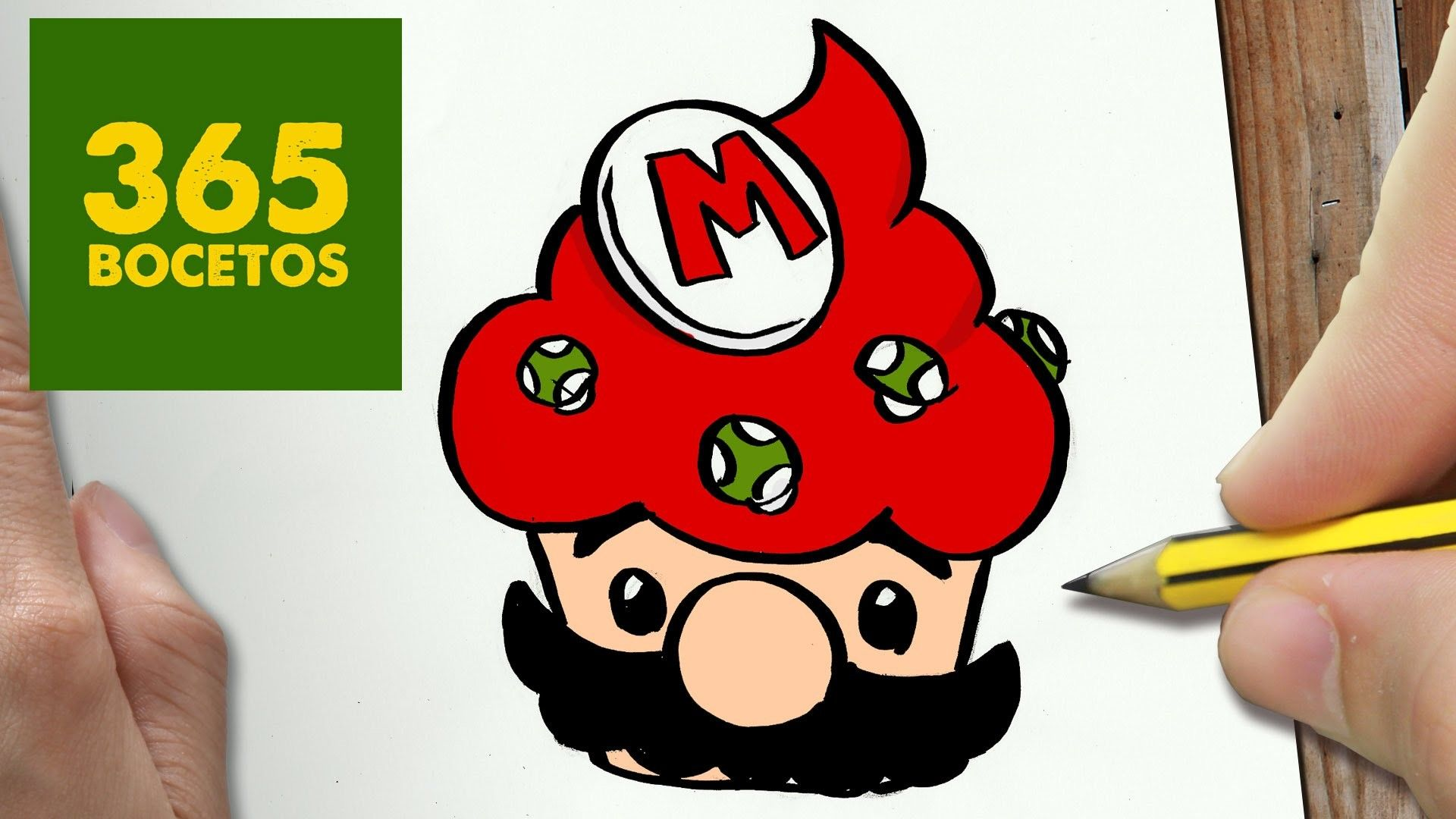 Como Dibujar Mario Cupcake Kawaii Paso A Paso Dibujos Kawaii