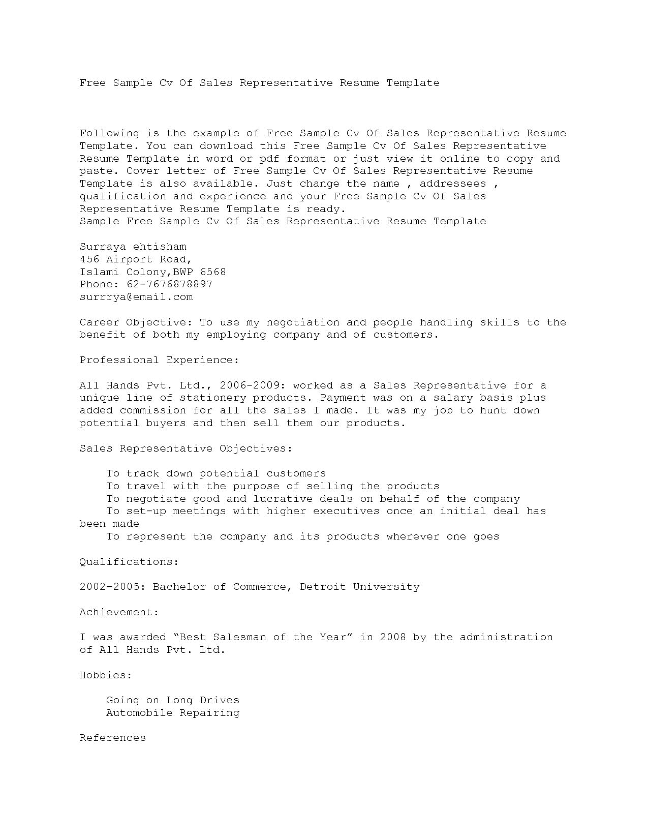 Cover Letter Template Copy And Paste Resume template