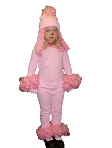 Diy Halloween Pink Poodle Costume Made From Dollar Store